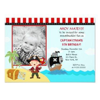 Pirate Photo Birthday Party Invitation