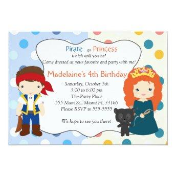 Pirate Princess Invitation Kids Birthday Party
