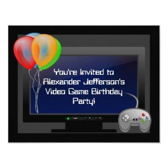 Plasma Video Game Gaming Birthday Party