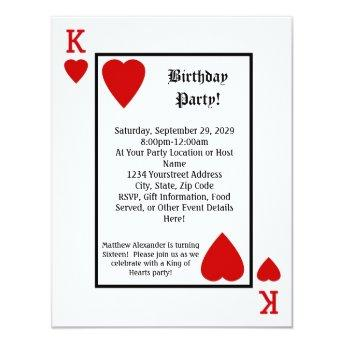 Playing  King Hearts Birthday Party