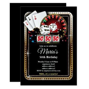 Poker Playing Invitation, casino party invite
