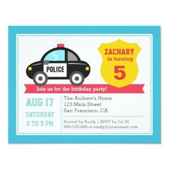 Police Car Kids  Party