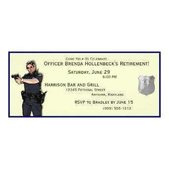 Police Woman Custom Retirement Party