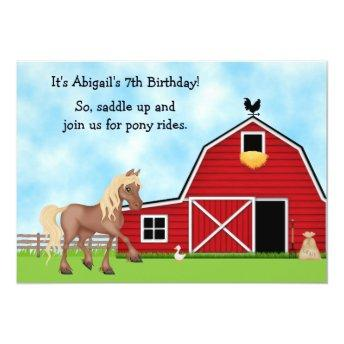 Pony Rides Horseback Riding Birthday