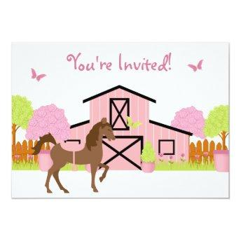Pretty Barn Horse Birthday Party
