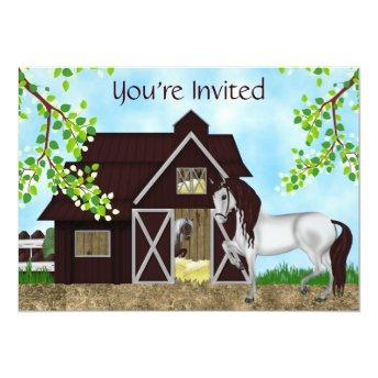Pretty Horses and Barn Girls Birthday