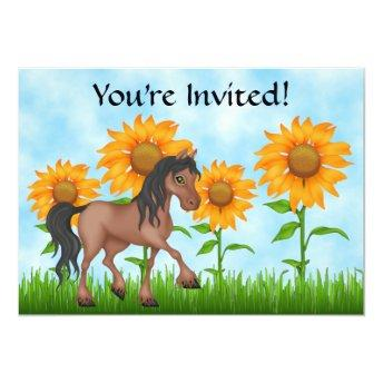 Pretty Sunflower & Horse Birthday Party