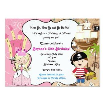 Princess and Pirate Birthday Party