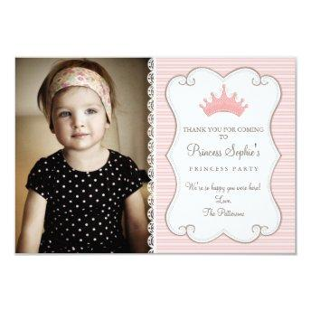 Princess Birthday Photo Thank You