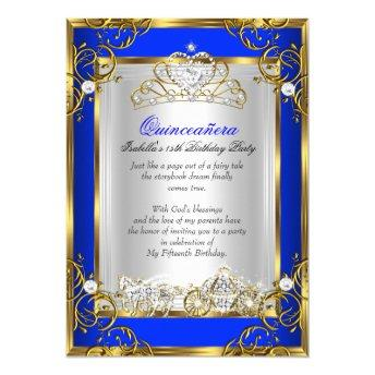 Princess Quinceanera 15th Birthday Royal Blue 2