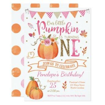 Pumpkin First Birthday , Autumn Fall
