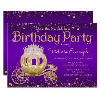 Purple and Gold Princess Birthday Party