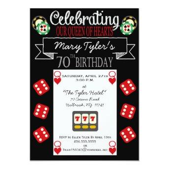 Queen of Hearts 70th Birthday Party