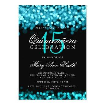 Quinceanera 15th Birthday Party Turquoise Lights