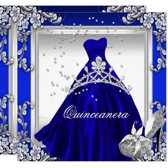 Quinceanera 15th Birthday Royal Blue Dress Gown