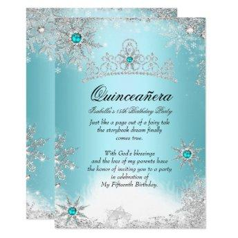 Quinceanera 15th Winter Wonderland Silver Blue 2