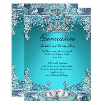 Quinceanera Aqua Teal 15th Birthday Party