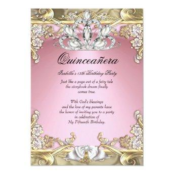 Quinceanera Pink Gold 15th Birthday Party