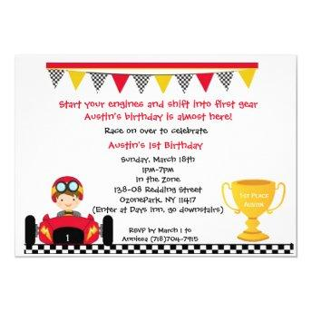 Race car Invite