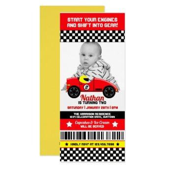 Race Car Photo Template Birthday Party