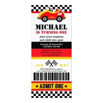 Race Car Ticket Pass Birthday Party