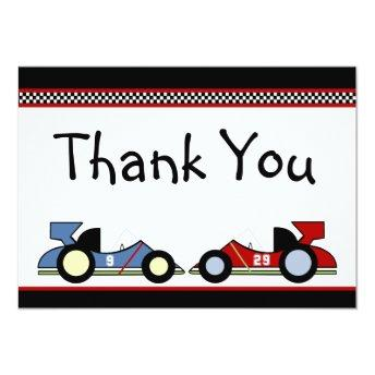 Race Cars Thank You