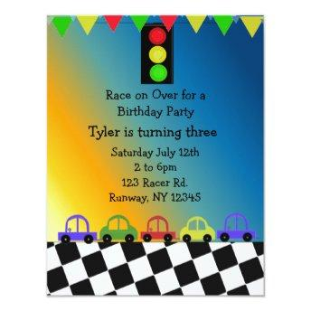 Racing Car Traffic Light Birthday Party