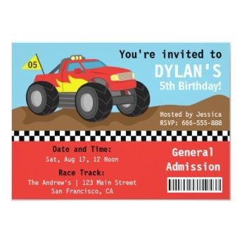 Racing Monster Truck Party, Boys Admission Ticket