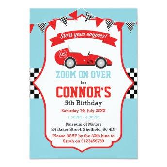 Racing themed birthday party
