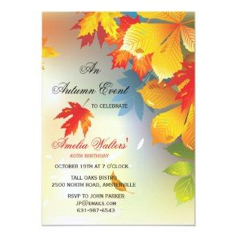 Radiant Fall Colors Invitation