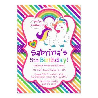 Rainbow Pony Unicorn Birthday Party