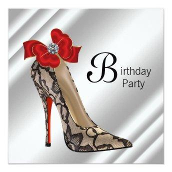 Red Black High Heel Shoe Birthday Party