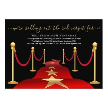 Red Carpet Themed Party with Faux Gold Foil