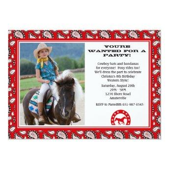 Red Cowboy Bandana Photo