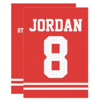 Red Football Jersey - Sports Theme Birthday Party