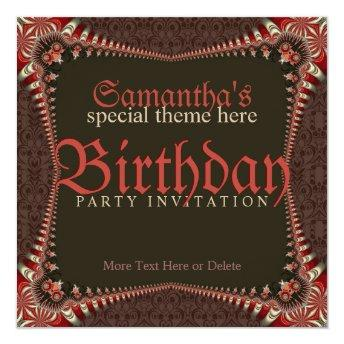 Red Gothic Special Theme Birthday Party