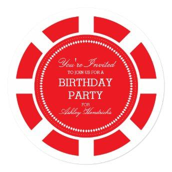 Red Poker Chip Birthday Party