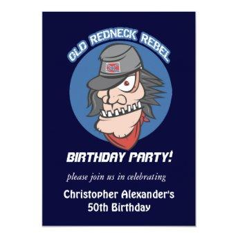Redneck Rebel Birthday Party Invitation