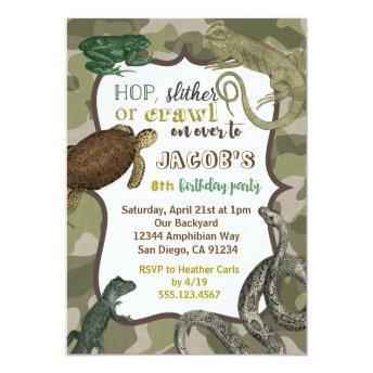 Reptile Animal Vintage Birthday