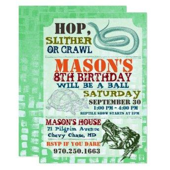 Reptile Show Birthday Party