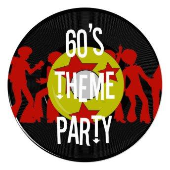 Retro 60's Theme Party Invitation