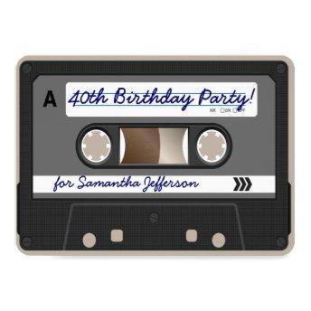 Retro 80s Cassette Tape 40th Birthday