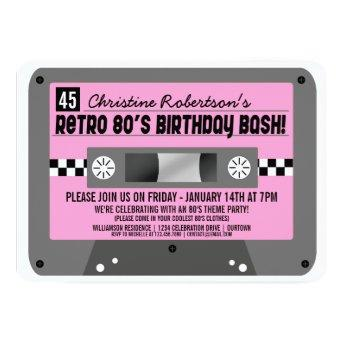 Retro 80's Cassette Tape Party