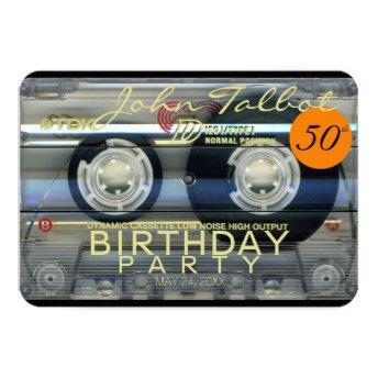 Retro T2 Audiotape 50th birthday Party