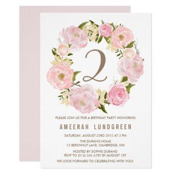 Romantic Pink Peonies Wreath Birthday Party