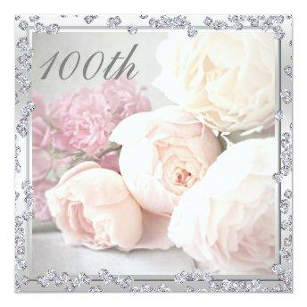 Romantic Roses & Diamonds 100th Birthday Party