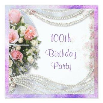 Romantic Roses & Pearls 100th Birthday Party