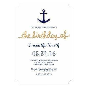 Rope and Anchor Nautical Birthday