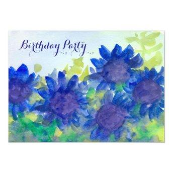 Royal Blue Daisy Flowers 80th Birthday Party