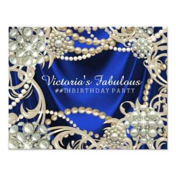 Royal Blue Ivory Pearl  Party